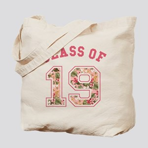 Class of 19 Floral Pink Tote Bag