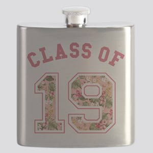 Class of 19 Floral Pink Flask