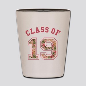 Class of 19 Floral Pink Shot Glass