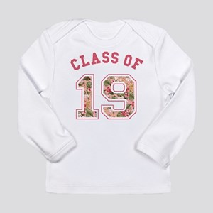 Class of 19 Floral Pink Long Sleeve T-Shirt