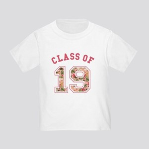 Class of 19 Floral Pink T-Shirt