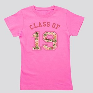 Class of 19 Floral Pink Girl's Tee