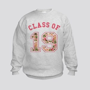 Class of 19 Floral Pink Sweatshirt