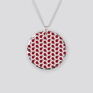 Special Ladybugs Necklace Circle Charm