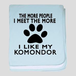 I Like More My Komondor baby blanket
