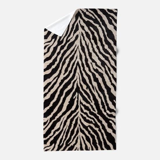 Zebra Print Brown Beige Tan Beach Towel