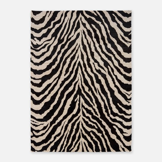 Zebra Print Brown Beige Tan 5'x7'Area Rug