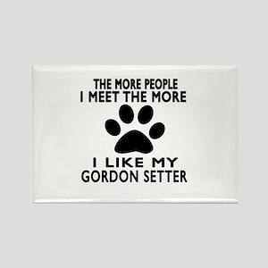 I Like More My Gordon Setter Rectangle Magnet