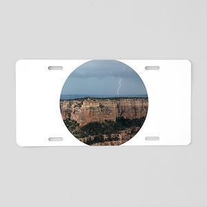 Grand Canyon Lightning Aluminum License Plate