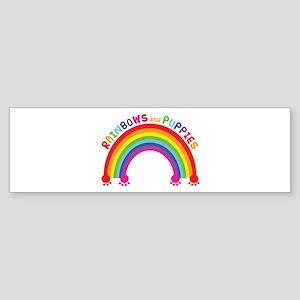 Rainbows And Puppies Bumper Sticker