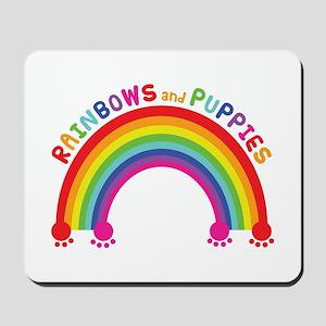 Rainbows And Puppies Mousepad
