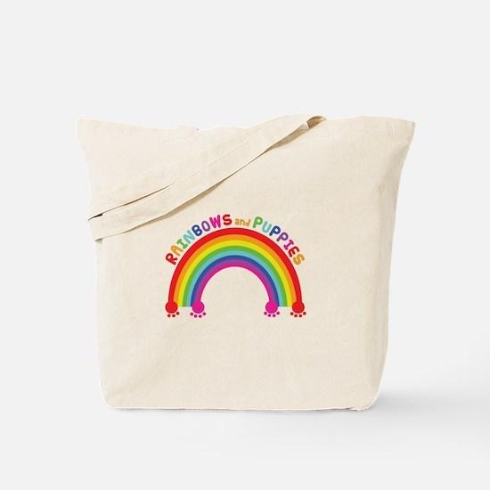 Rainbows And Puppies Tote Bag