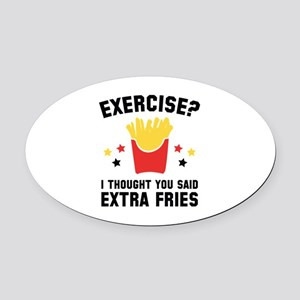 Exercise? Oval Car Magnet