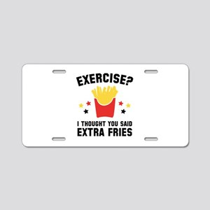 Exercise? Aluminum License Plate