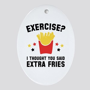 Exercise? Ornament (Oval)