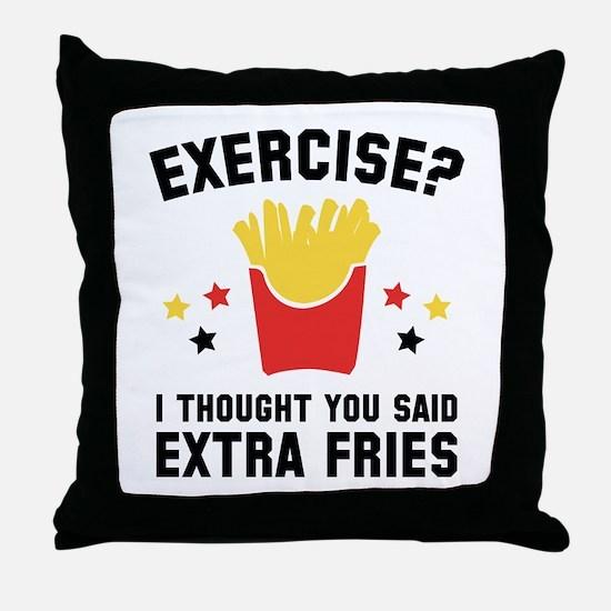 Exercise? Throw Pillow
