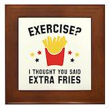 Extra fries Framed Tiles