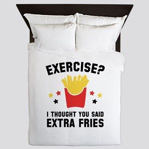Exercise? Queen Duvet