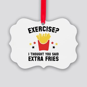 Exercise? Picture Ornament