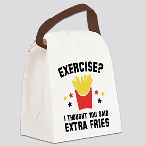 Exercise? Canvas Lunch Bag