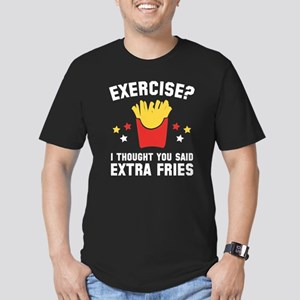 Exercise? Men's Fitted T-Shirt (dark)