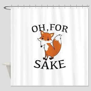 Oh, For Fox Sake Shower Curtain