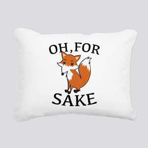 Oh, For Fox Sake Rectangular Canvas Pillow