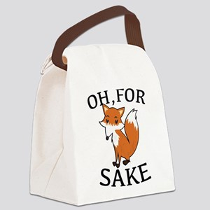 Oh, For Fox Sake Canvas Lunch Bag
