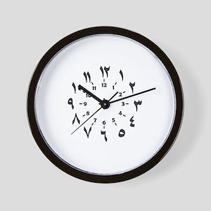 CLOCKFACE ARABIC NUMERALS Wall Clock