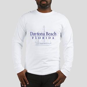 Daytona Beach Sailboat Long Sleeve T Shirt