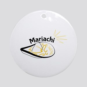 Mariachi Sombrero Round Ornament
