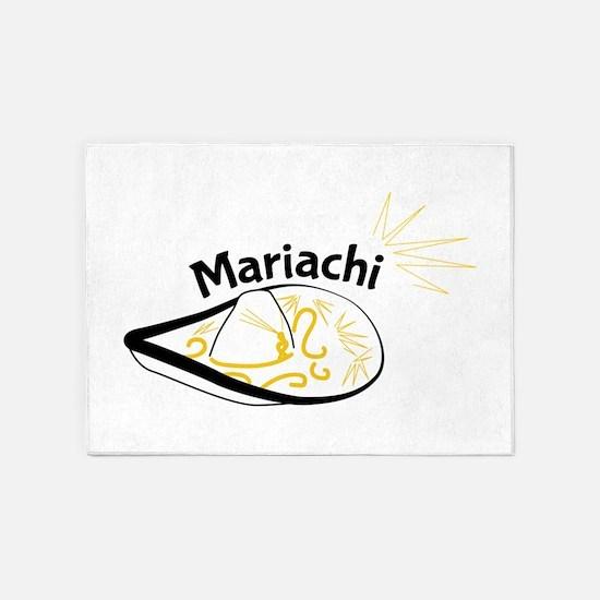 Mariachi Sombrero 5'x7'Area Rug