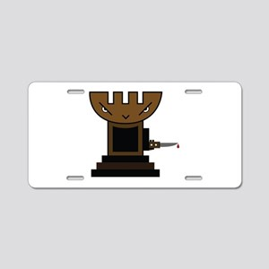 Chess Pawn Aluminum License Plate