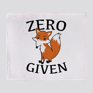 Zero Fox Given Stadium Blanket