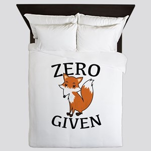 Zero Fox Given Queen Duvet