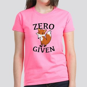 Zero Fox Given Women's Dark T-Shirt