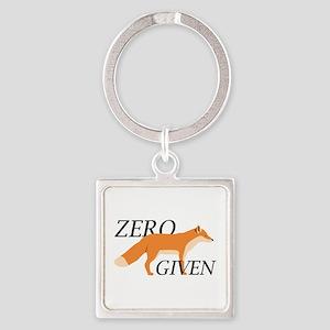 Zero Fox Given Square Keychain