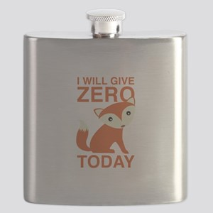 I Will Give Zero Fox Today Flask