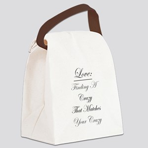 Crazy Love Canvas Lunch Bag