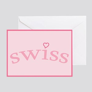 """Swiss with Heart"" Greeting Card"