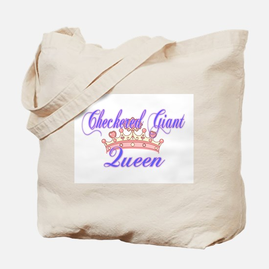 Checkered Giant Queen Tote Bag