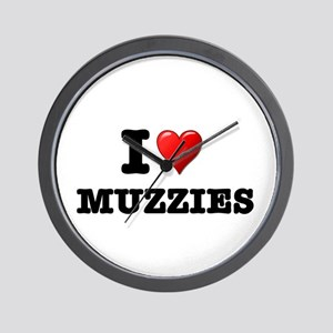 I LOVE MUZZIES Wall Clock