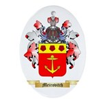 Meirovitch Oval Ornament