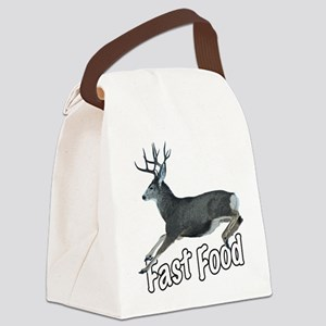 Fast Food Buck Deer Canvas Lunch Bag