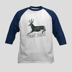 Fast Food Buck Deer Kids Baseball Jersey