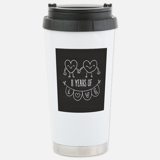 11th Anniversary Gift C Stainless Steel Travel Mug