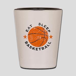 Eat Sleep Basketball Shot Glass