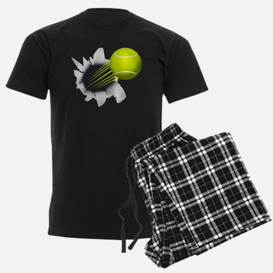 Tennis Ball Flying Out Of Hole Pajamas