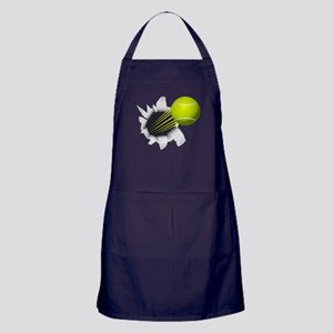Tennis Ball Flying Out Of Hole Apron (dark)