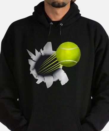 Tennis Ball Flying Out Of Hole Hoodie